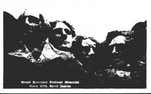 South Dakota Black Hills Mount Rushmore Real Photo