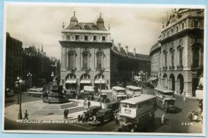 UK - England, London, Piccadilly Circus & Eros Statue  *RPPC