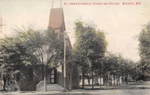 Mauston Wisconsin~St John's Episcopal Church~Rectory~Dirt Road Homes~1908 PC