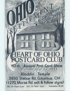 1988 Postcard Ad HEART OF OHIO POSTCARD CLUB Columbus Ohio OH HM4469