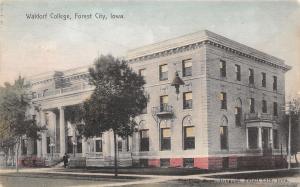 Forest City Iowa~Waldorf College~Man on Steps~Pinckney Druggist~Handcolor 1908