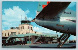 Postcard FL Jacksonville Terminal Imeson Airport Tower Eastern Airlines L18