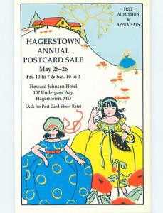 Pre-1980 Postcard Ad ANNUAL POSTCARDS SALE Hagerstown Maryland MD HM4489