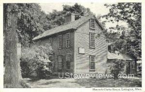 Hancock-Clarke House Lexington MA Unused