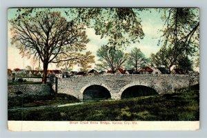 Kansas City MO-Missouri, Brush Creek Stone Bridge, Vintage Postcard