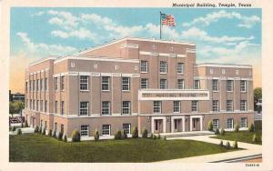Temple Texas Municipal Building Antique Postcard J51392