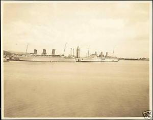 Two C.P.R. Liners, Steamers (1930s) Large Real Photo