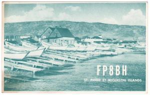 QSL, FP8BH, St. Pierre & Miquelon, 1960