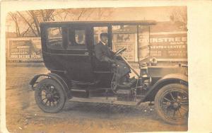 Little Rock AR Stearns Taxicab Runman Wolfort Auto John Deere RPPC Postcard