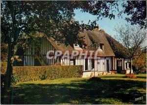 Postcard Modern Chaumiere Normande