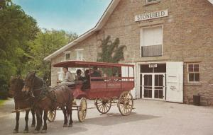 Horse-Drawn Bus Postcard Stonefield Wisconsin American House