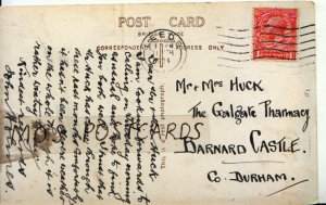 Genealogy Postcard - Huck - Galgate Pharmacy - Barnard Castle - Co Durham  9019A