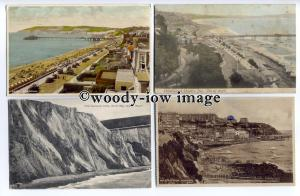 h0279 - Cards x 4 of Sandown, Ventnor, Shanklin 1905/50, Isle of Wight- Postcard