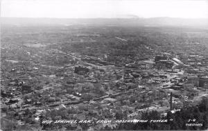 1940s Hot Springs Arkansas Observation Tower Aerial View RPPC real photo 60