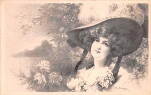 Girl with Hat, RR Wichera Unused