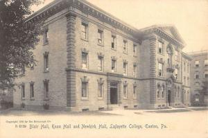 Easton Pennsylvania Lafayette College Blair Hall Antique Postcard K58971