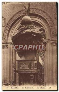 Old Postcard Bayeux Cathedral The pulpit