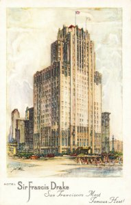 Postcard Hotel Sir Francis Drake San Francisco California