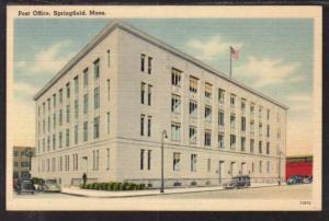 Post Office Springfield MA Postcard 5962