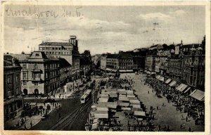 CPA AK ZAGREB Jelacicev trg CROATIA (597545)