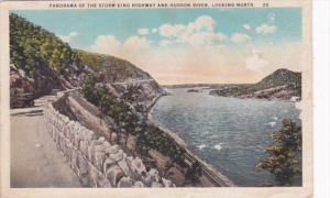 New York Panorama Of The Storm King Highway and Hudson River Curteich