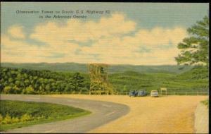 Arkansas Ozarks, U.S. Hwy Highway 62 Observation Tower (1940s) Curteich
