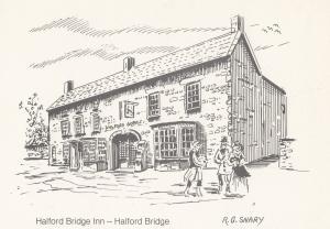 Halford Bridge Inn Artist Pub Postal Anniversary Northampton Postcard