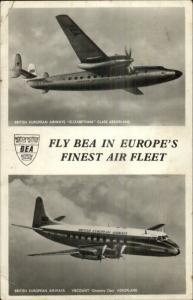 BEA British European Airways Airplanes Viscount Real Photo Postcard