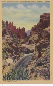 Arizona Queen Creek Gorge Globe-Miami-Superior Highway Curteich