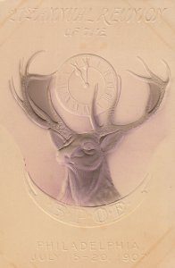 PHILADELPHIA, Pennsylvania, 1907; 21st Annual Reunion of the B.P.O.E., Deer