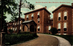 Connecticut Hartford Hospital Main Entrance 1913