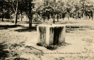NH - Amherst. Whipping Post from the Old Colonial Jail