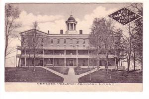 Genesee Wesleyan Seminary Diamond Jubilee 1907, Lima, New York,  B&W