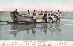 New Jersey Atlantic City Life Saving Crew With Lifeboat 1905