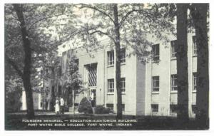 Founders Memorial, Fort Wayne Bible College, Fort Wayne, Indiana, 1900-1910s