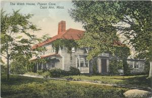Pigeon Cove-Cape Ann Massachusetts~Handcolored The Witch House~c1910 Postcard