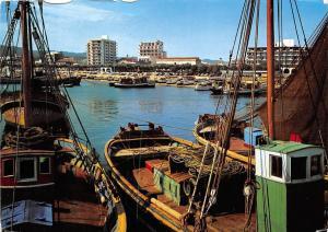 Spain Costa Brava Palamos Detalle de la Playa Beach Harbour Fishing Boats