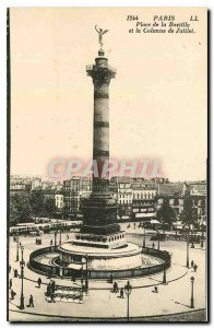 Old Postcard Paris Place de la Bastille and the July Column