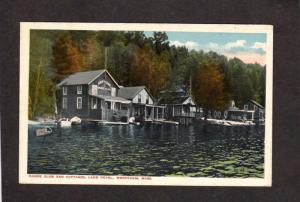 MA Neptune Canoe Club Lake Pearl Cottages Wrentham Mass Massachusetts Postcard