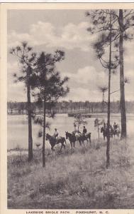 Horse riding , Lakeside Bridle Path , PINEHURST , North Carolina , PU-1933
