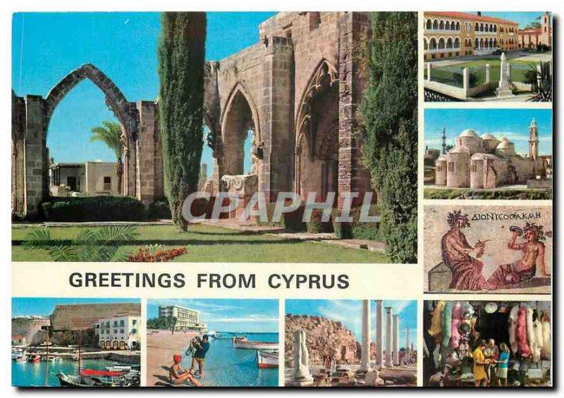 Modern Postcard Greetings from Cyprus
