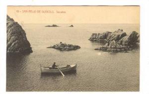 San Feliu de Guixols. Secains (Man in row boat0, Spain, 00-10s