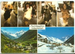 Switzerland, Tschaggata, Lotschental, 1991 used Postcard