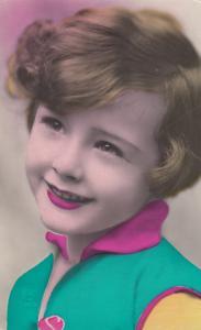 RP: Girl Head portrait , 1900-10s