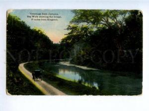 158406 GREETINGS from JAMAICA Bog Walk showing flat Bridge OLD