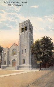 Hot Springs National Park Arkansas~First Presbyterian Church~1910 Postcard