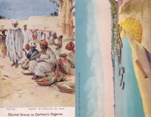Lagos Fish Market Nigeria 2x Old Postcard