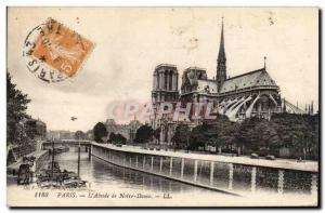Paris - 4 - L & # 39Abside Notre Dame - Old Postcard