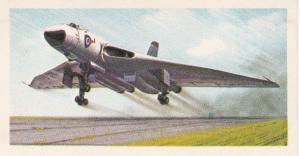 Trade Card Brooke Bond Tea History of Aviation black back reprint No 35 Vulcan