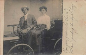 Early Car, Coney Island, Brooklyn, N.Y., 1909 Real Photo Postcard, Unused